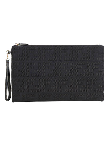 Fendi Embossed FF Clutch Bag