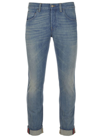 Gucci Web Tapered Jeans