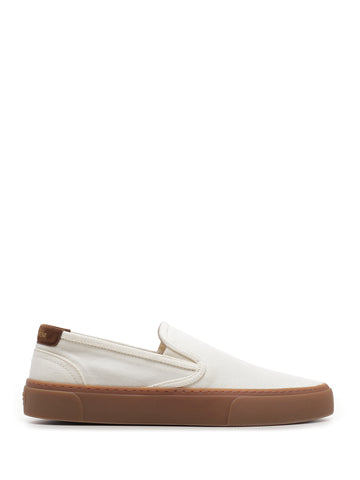 Saint Laurent Contrast Sole Slip-On Sneakers