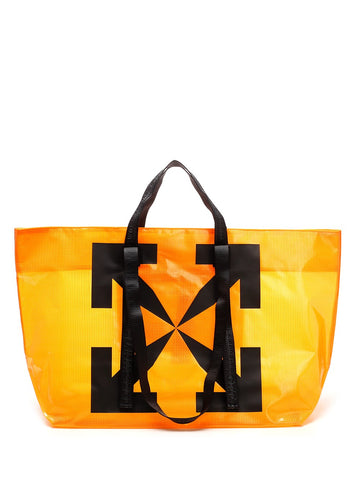 Off-White Logo Printed Shopper Bag