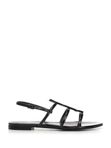 Saint Laurent Cassandra Logo Ankle Strap Sandals