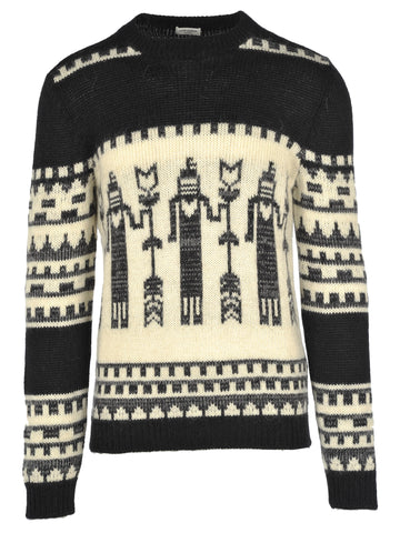 Saint Laurent Printed Knitted Jumper