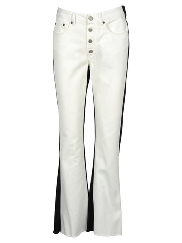Mm6 Maison Margiela Two-Tone Flared Jeans
