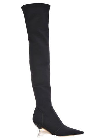 Dior Wedge Heel Over The Knee Boots