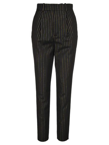 Saint Laurent High-Waisted Striped Trousers