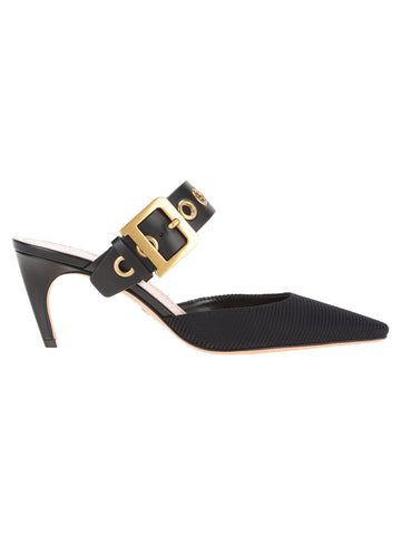 Dior D Buckle Heeled Mules
