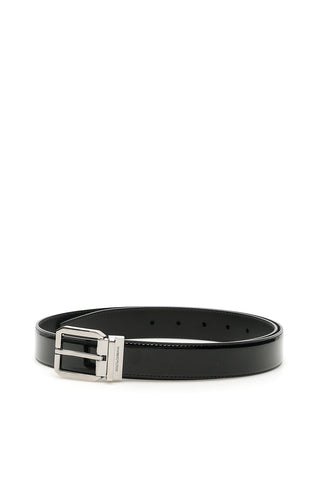 Dolce & Gabbana Logo Engraved Buckle Belt