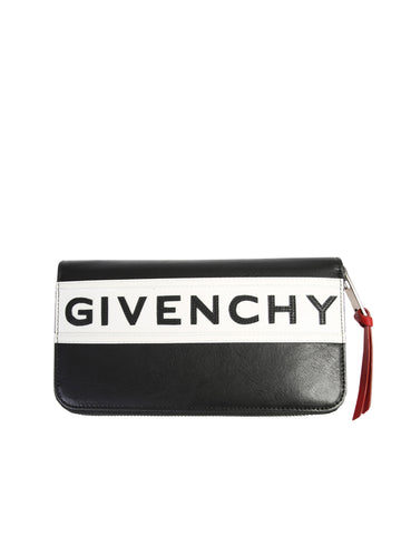 Givenchy Zipped Reverse Logo Wallet