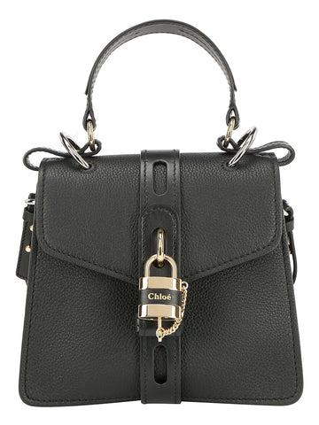 Chloé Aby Logo Padlock Top Handle Tote Bag