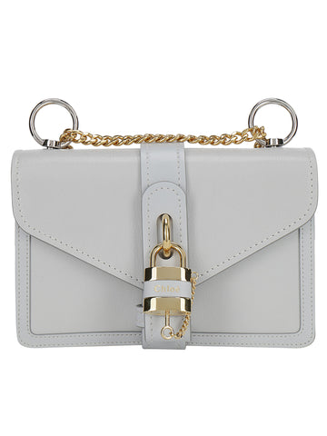 Chloé Aby Logo Padlock Chain Shoulder Bags