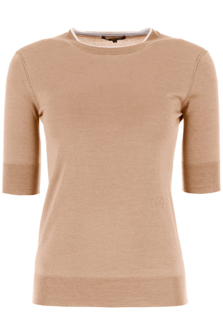 Loro Piana Crewneck Short-Sleeved Sweater