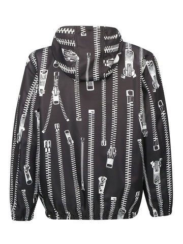 Moschino All Over Zip Hooded Jacket