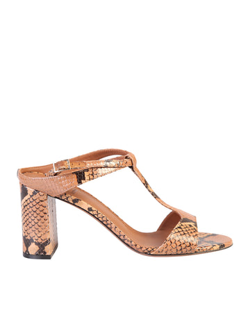 L'Autre Chose Block Heel T-Bar Sandals