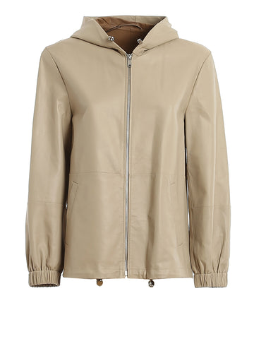 Weekend Max Mara Zip Up Leather Jacket