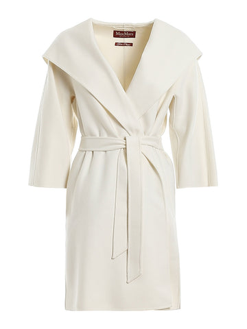 Max Mara Studio Belted Hooded Coat