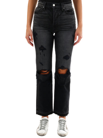 Amiri Distressed Straight-Leg Jeans