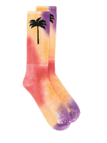 Palm Angels Palm Tree Motif Printed Tie-Dye Socks