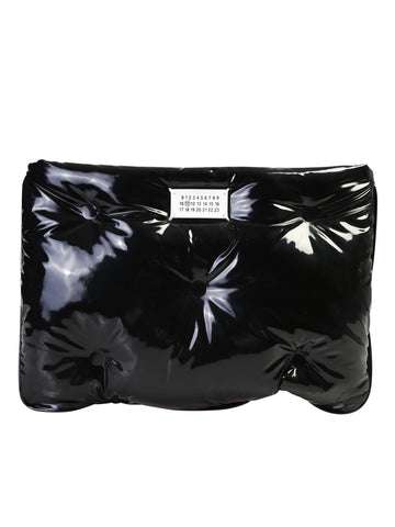 Maison Margiela Quilted Logo Patch Clutch Bag