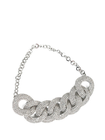 Alessandra Rich Braided Link Necklace