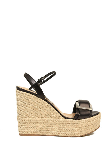 Sergio Rossi SR Prince Wedge Sandals