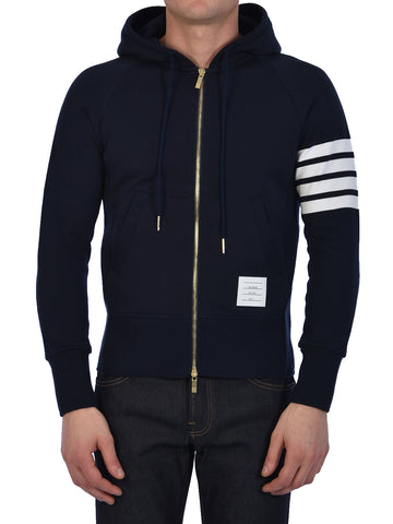 Thom Browne 4-Bar Stripe Hooded Jacket