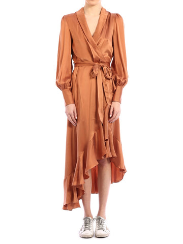 Zimmerman Ruffled Hem Wrap Dress