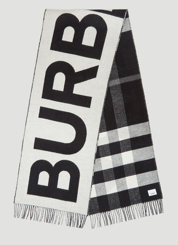 Burberry Reversible Check And Logo Scarf