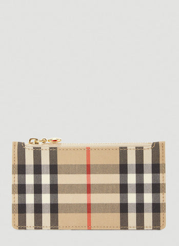 Burberry Vintage Check Zip Card Case