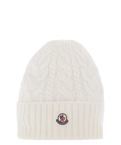 Moncler Logo Ribbed-Knit Beanie
