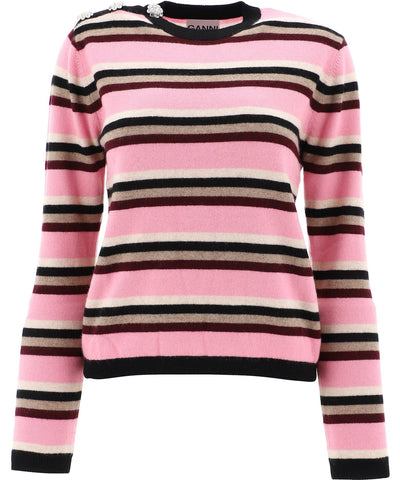 Ganni Striped Sweater