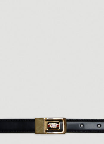 Gucci Logo Plaque Buckle Belt