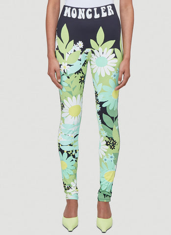 Moncler X Richard Quinn Floral Print Leggings