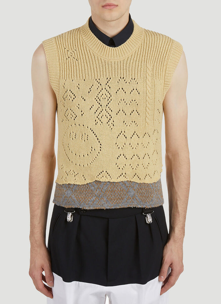 Raf Simons Sleeveless Knitted Sweater