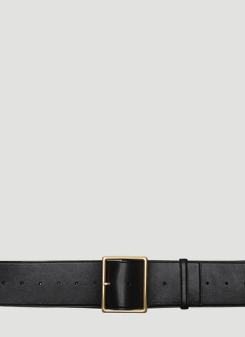 Saint Laurent Rectangular Buckle Belt