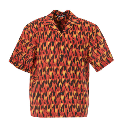 Palm Angels Flame Printed Shirt