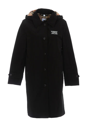 Burberry Hooded Logo Coat