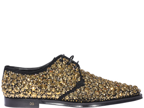 Dolce & Gabbana Embellished Derby Shoes