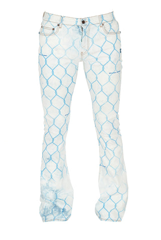 Off-White Printed Flared Jeans
