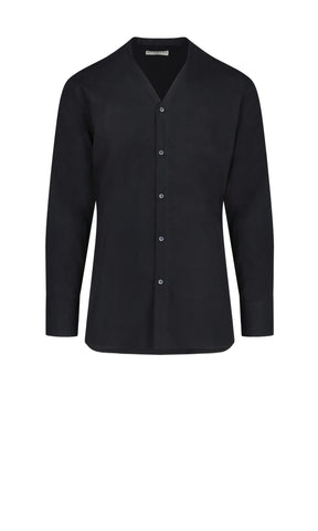 Givenchy Signature Embroidered Collarless Shirt