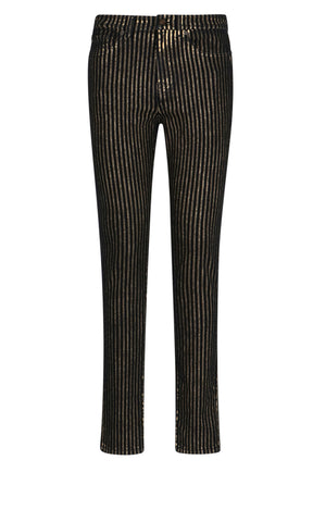 Saint Laurent Embellished Striped Jeans