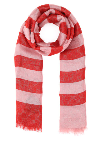 Gucci GG Motif Striped Foulard