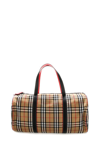 Burberry Large Vintage Check Barrel Bag