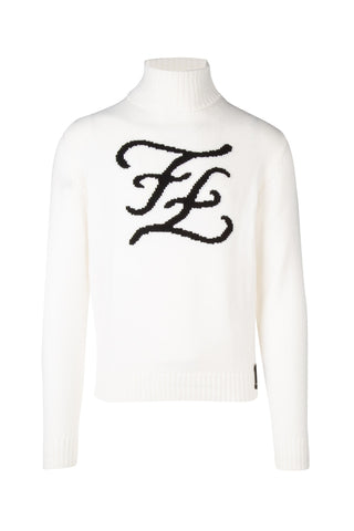 Fendi Turtleneck Logo Knitted Jumper