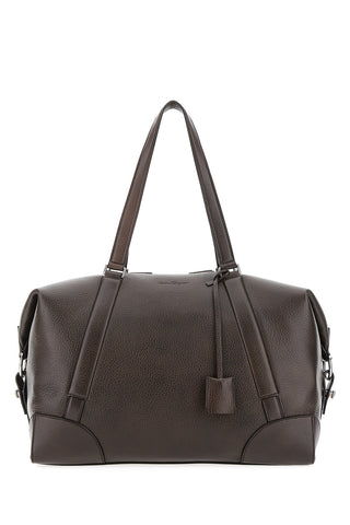 Salvatore Ferragamo Embossed Logo Duffle Bag