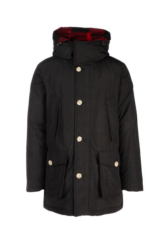 Woolrich Check Panelled Down Coat