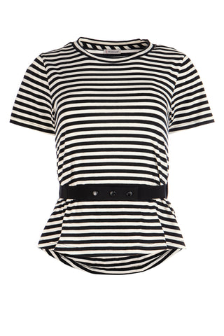 Moncler Striped Belted T-Shirt