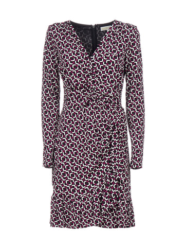 Michael Michael Kors V-Neck Fitted Dress