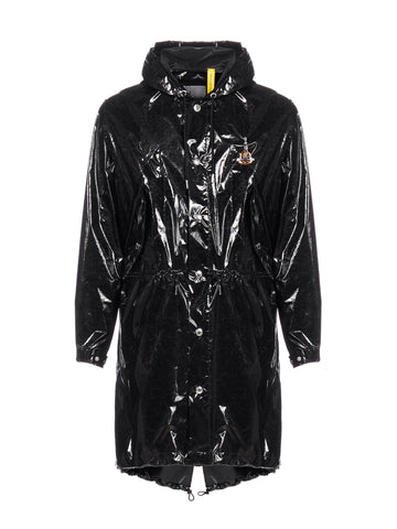 Moncler X Palm Angels Logo Trench Coat