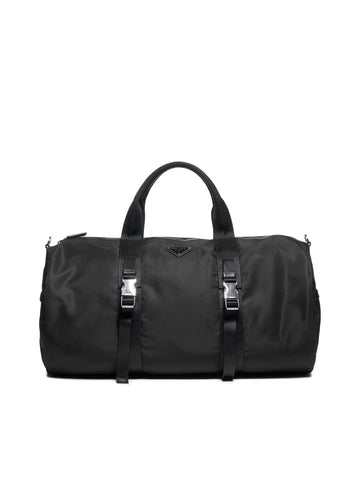Prada Logo Plaque Duffle Bag