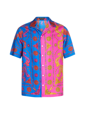 Versace Graphic Printed Patchwork Shirt
